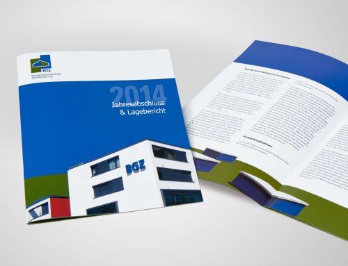 Broschüre Geschäftsbericht BGZ