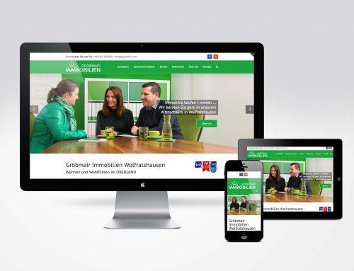 Responsive Website Gröbmair Immobilien Wolfratshausen