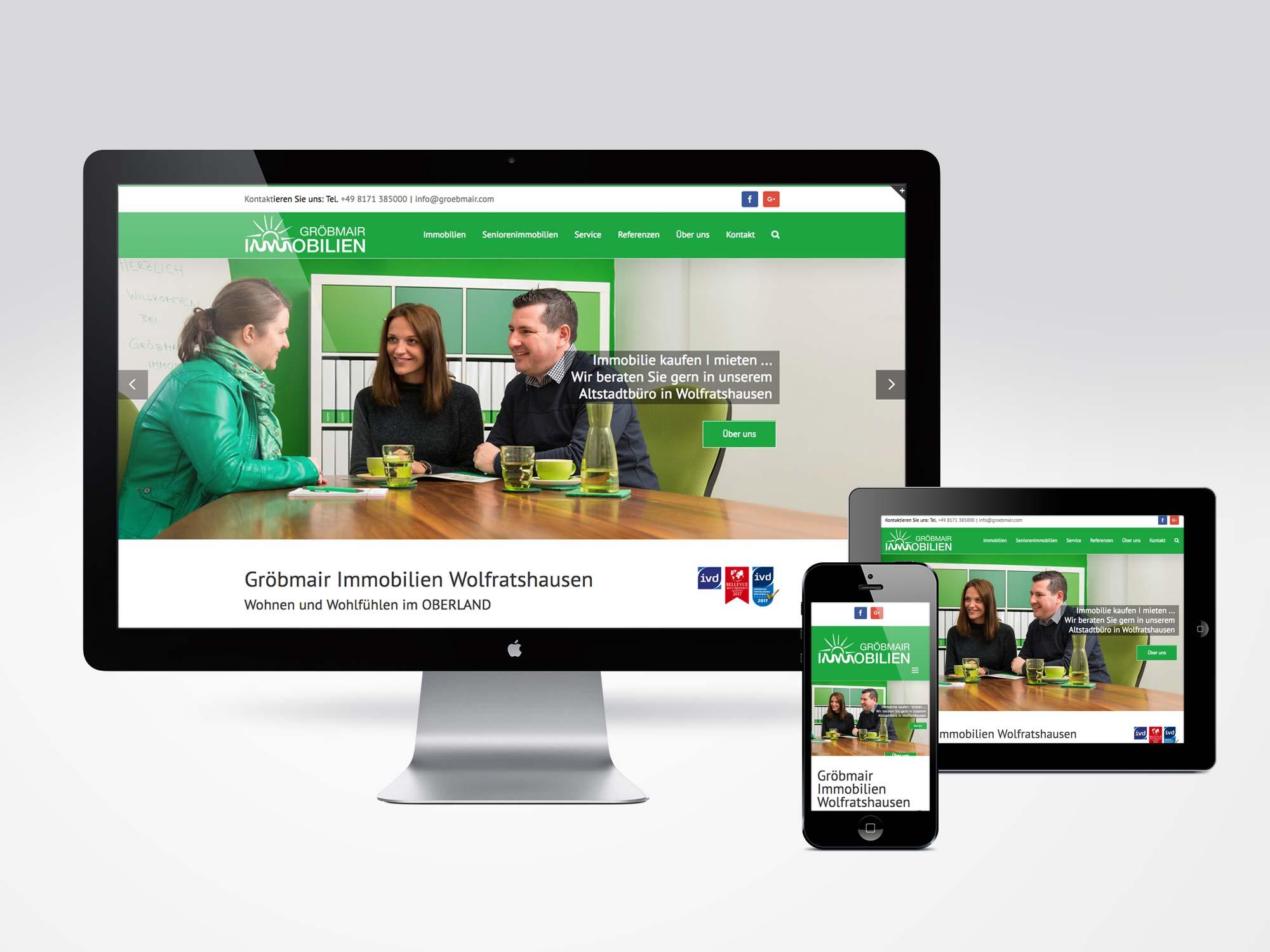 Webdesign Gröbmair Immobilien Wolfratshausen