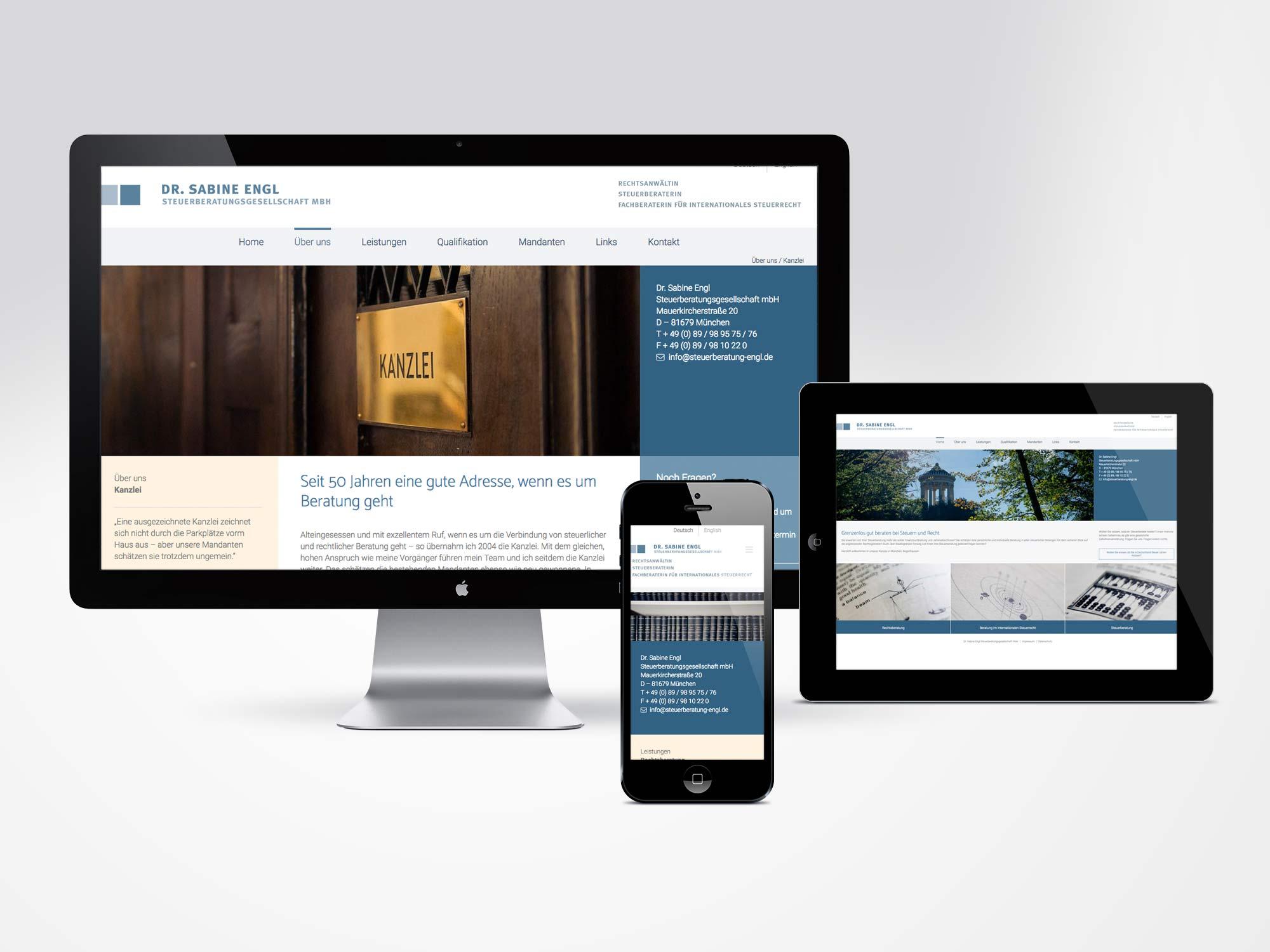 Responsive Website Dr. Sabine Engl Steuerberatungsgesellschaft
