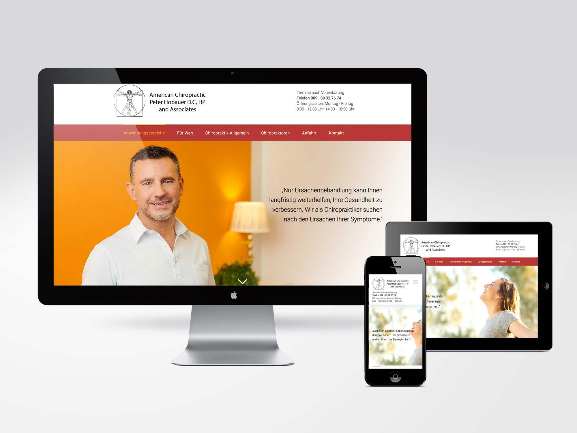 Responsive Website Wordpress Praxis Hobauer